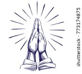 praying hands   symbol of... | Shutterstock .eps vector #773174875