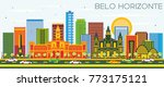 belo horizonte brazil skyline... | Shutterstock . vector #773175121