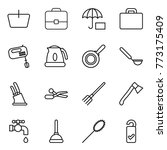 thin line icon set   basket ... | Shutterstock .eps vector #773175409