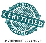 certified stamp vector... | Shutterstock .eps vector #773175739