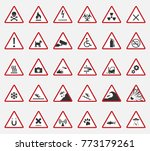 caution icons  warning signs | Shutterstock .eps vector #773179261