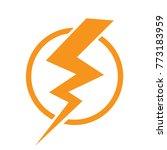 thunder icon vector | Shutterstock .eps vector #773183959