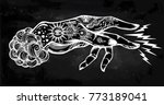 flash magic. inked human hand ...   Shutterstock .eps vector #773189041