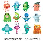 cartoon cute  monsters set ... | Shutterstock .eps vector #773189911