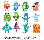 cartoon cute  monsters set ... | Shutterstock .eps vector #773189911