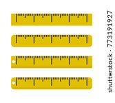 yellow ruler icon. vector...   Shutterstock .eps vector #773191927