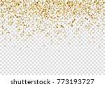 falling glowing golden confetti.... | Shutterstock .eps vector #773193727