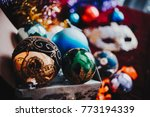 new year still life with...   Shutterstock . vector #773194339