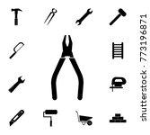 pliers icon. set of...