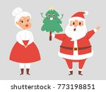 christmas santa claus and wife... | Shutterstock .eps vector #773198851