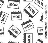 monday calendar page seamless... | Shutterstock .eps vector #773200771