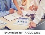 business team presenting... | Shutterstock . vector #773201281