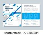 annual report  broshure  flyer  ... | Shutterstock .eps vector #773203384