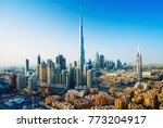 amazing view on dubai downtown... | Shutterstock . vector #773204917