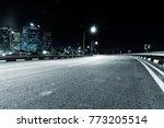 empty asphalt road in midtown... | Shutterstock . vector #773205514