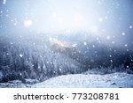 christmas and new year... | Shutterstock . vector #773208781