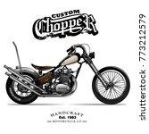 Vintage Chopper Motorcycle...
