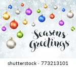 happy holidays greeting card.... | Shutterstock .eps vector #773213101