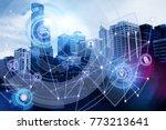 creative digital business...   Shutterstock . vector #773213641