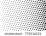 abstract futuristic halftone... | Shutterstock .eps vector #773216221