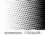 abstract futuristic halftone... | Shutterstock .eps vector #773216239