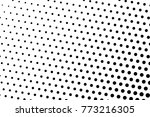 abstract futuristic halftone... | Shutterstock .eps vector #773216305