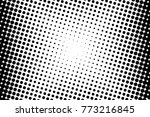 abstract monochrome halftone... | Shutterstock .eps vector #773216845