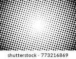 abstract monochrome halftone... | Shutterstock .eps vector #773216869