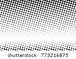 abstract monochrome halftone... | Shutterstock .eps vector #773216875