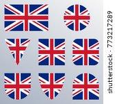 uk flag icon set. british flag... | Shutterstock .eps vector #773217289