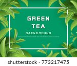 green tea leaves vector nature... | Shutterstock .eps vector #773217475