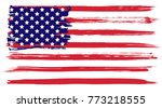 grunge usa flag. american flag... | Shutterstock . vector #773218555