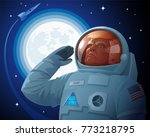 donald trump in a space suit... | Shutterstock .eps vector #773218795