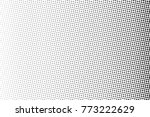abstract monochrome halftone... | Shutterstock .eps vector #773222629