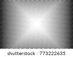 abstract monochrome halftone... | Shutterstock .eps vector #773222635