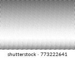 abstract monochrome halftone... | Shutterstock .eps vector #773222641