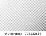 abstract monochrome halftone... | Shutterstock .eps vector #773222659