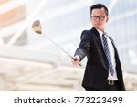 portrait asian business man... | Shutterstock . vector #773223499
