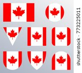 canada flag icon set. canadian... | Shutterstock .eps vector #773225011