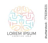 creative brain logo design.... | Shutterstock .eps vector #773234221