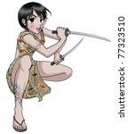 Female Warrior From Far East