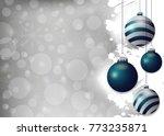 silver christmas background...   Shutterstock . vector #773235871