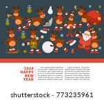 merry christmas happy new year... | Shutterstock .eps vector #773235961