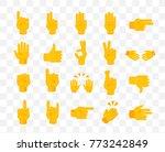 set of hands on transparent... | Shutterstock .eps vector #773242849