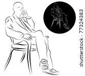 an image of a businessman... | Shutterstock .eps vector #77324383