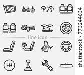 set of car interior details... | Shutterstock .eps vector #773244634