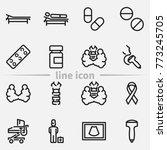 set of thyroid gland anatomy ... | Shutterstock .eps vector #773245705