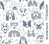 vector seamless pattern with...   Shutterstock .eps vector #773246269