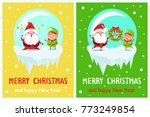merry christmas and happy new... | Shutterstock .eps vector #773249854