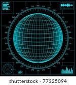 radar screen. digital globe...